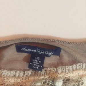 American Eagle Outfitters Tops - American Eagle Outfitters Lace Boho Style Cami L